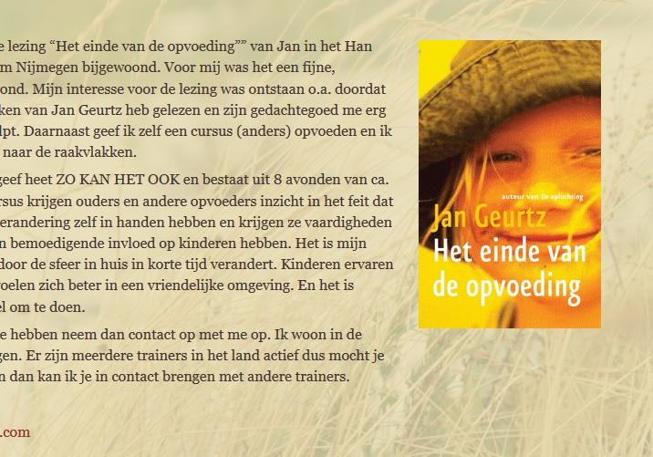 Reacties op het boek Einde van de opvoeding door Jan Geurtz