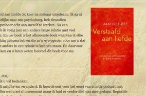 Reacties op het boek Verslaafd aan liefde door Jan Geurtz