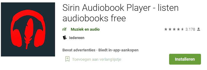 Sirin audioboek speler
